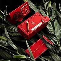 ハイエンドの携帯用噴水ペン永遠の花のバラのギフトボックス、エクアドルのバラ、独立したデザイン、クリエイティブなギフト友人恋人,Safflower pear wood,0.6mm
