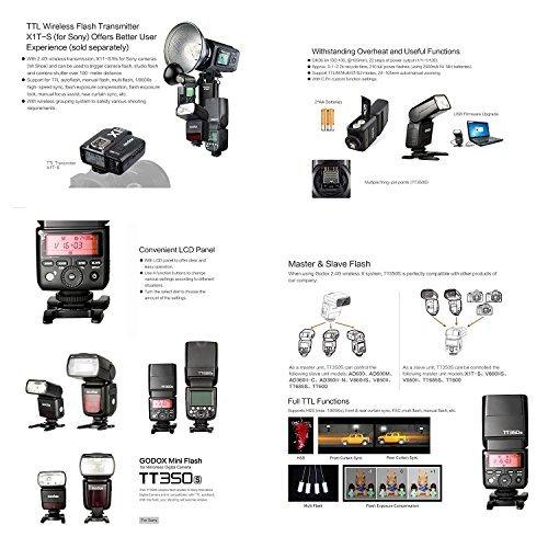 GODOX TT350S 2.4G HSS 1 / 8000s TTL GN36 Camera Speedlite Compatible for Sony Mirrorless Digital Camera