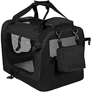 Customer reviews Woltu Foldable Dog Pet Kennel/Animal Carrier Bag, Ideal for Dogs and Cats