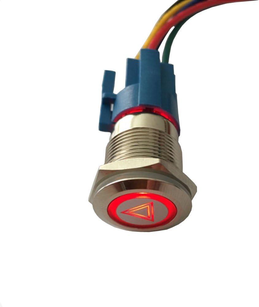 ESUPPORT 12V Car Vehicle Max 90% OFF Red Warning Branded goods Light Emergency LED Hazard