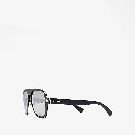 Matte Black/Light Grey Mirror Silver