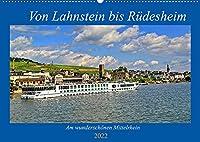 Von Lahnstein bis Ruedesheim - Am wunderschoenen Mittelrhein (Wandkalender 2022 DIN A2 quer): Eine Reise den Mittelrhein entlang (Geburtstagskalender, 14 Seiten )