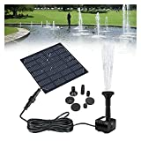 SLATIOM Panel Solar Powered Water Fountain Pool Pond Garden Sprinkler Rociador De Agua con Bomba De Agua Y 3 Cabezas De Pulverización