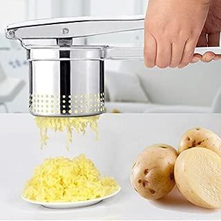 Easyflower Add Much Fun Potato Ricer Press,Stainless Steel Potato Ricer Manual Juicer Vegetable Garlic Fruit Lemon Orange Squeezer