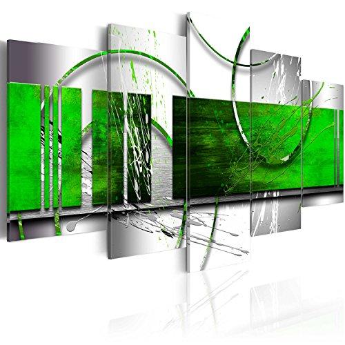 murando Tableau Acoustique Abstrait 225x112 cm Impression sur Toile Image 5 Pieces Tableaux murals Absorption Acoustique Tableau Decoration Murale a-A-0019-b-p