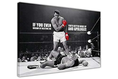 Kunstdruck auf Leinwand, Wand-Bild, Motiv: Muhammad Ali,