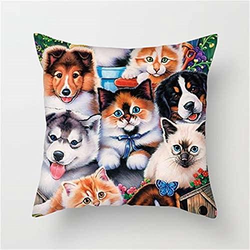 KLily Pet World Funda De Almohada Decorativa, Funda De Almohada para Abrazar El Sofá del Dormitorio del Hogar, Almohada De Yoga, Funda De Cojín para Asiento De Oficina, Lavable