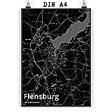 Mr. & Mrs. Panda Poster DIN A4 Stadt Flensburg Stadt Black