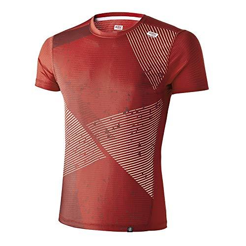 42K Running - Camiseta técnica Elements 100% reciclada Fire Hombre XL
