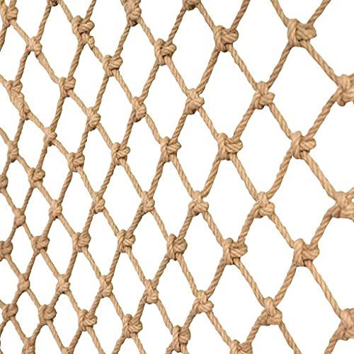 FEFCK Rete di Sicurezza di Calibro di Corda di Canapa Heavy Duty Restaurant Bar Decorazione del Soffitto Net, Durevole Rete Protettiva Regolabile Lunga E Grande Regolabile 2 * 9m