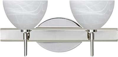 Besa Lighting 2SW-467952-CR 2X40W G9 Brella Wall Sconce with Marble Glass,