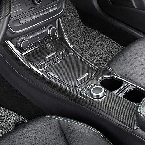 Qiilu Auto Schaltknauf Abdeckung Carbon Style Auto Schaltknauf Abdeckung Trim Fit f/ür Auto Sport 2014-2017