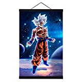 Anime Poster Planet Canvas Prints with 16 Inch Black Powerful Magnet Wood Poster Hanger…