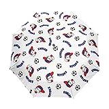 Futbolín Mono Paraguas Plegables niña niño Automático Resistencia Viento Paraguas Impermeable de Viaje