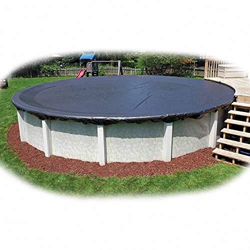 lINOC Cubierta de Piscina Redonda Cubierta de Bañera de Hidromasaje Cubierta de SPA Funda Muebles Jardin Impermeable Funda Muebles Exterior Negro 360×20cm