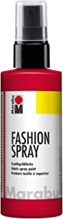 Marabu Red - Pintura Textil con pulverizador (100 ml), Color Rojo