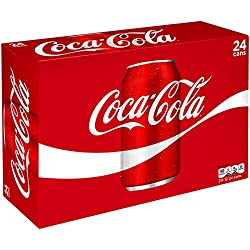 Coca-Cola Soda Soft Drink, 12 fl oz, 24 Pack