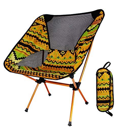Nosterappou Portable Chaise Pliante en Plein air coloré, Loisirs de pêche en Plein air Directeur Directeur Chaise en Aluminium Chaise Ultra léger Portable, Tissu Oxford épais 600D, Confort Respirant,