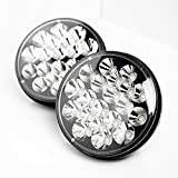 1 Pair Bear Claw 7 In 60w Round LED Headlights