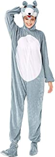 Doric Womens Adult Pajamas Animal Cosplay Costume Halloween Cute Jumpsuits(Contains hat, Shoes, Tail)