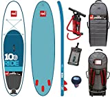 RED Paddle Co Ride 10'6 x 32 (2016 Series) Includes Bundle. Titan Pump - Backpack - Pumped Up SUP Pressure Gauge