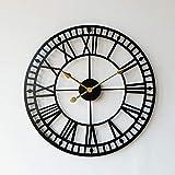 Moderno simple moda mudo nórdico reloj colgante sala de estar metal luz hierro arte personalidad reloj oro americano más de 20 pulgadas 40 cm diamante americano corte campana negro embrión oro aguja