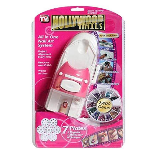 Hollywood Nails Art and Painting - Hollywood Nails All in One Nail Art System,Nail Printing Machine Nail Art Printer Creative New Beauty Tools Kit for Women Gift