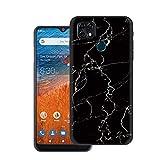 Tznzxm ZTE ZMax 10 Case, ZTE Z6250 Back Case,Consumer Cellular ZMax 10 Case, Marble Painting Design Flexible TPU Scratch Resistant Non-Slip Protective Bumper Slim Phone Case for ZTE Z6250 Black