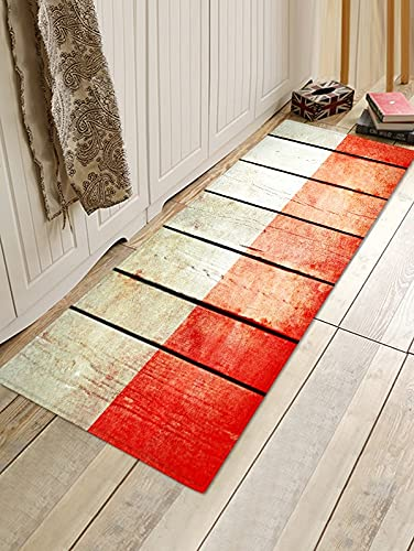 HLXX Streifendruck 3D Teppich Absorbent Badezimmer Bodenmatte Matte Badezimmer Teppich Waschbar Anti-Rutsch-Teppich Türmatte A2 60x180cm
