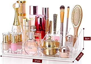 Cq acrylic 9 Grid Makeup Organizer and as a Lipstick and Makeup Brushes...