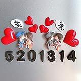 SUXIAO Ehepaar Kühlschrank Aufkleber Magnetaufkleber Kreative 3D Cartoon Dekoration Magnet Stein Nachricht Aufkleber