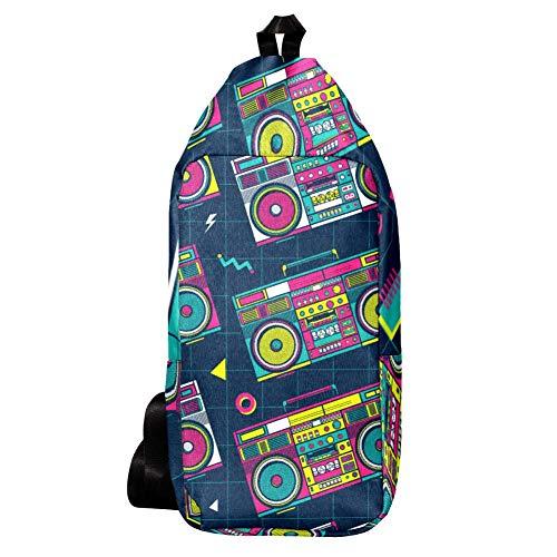 Retro 80s Colourful Boombox Crossbody Bag