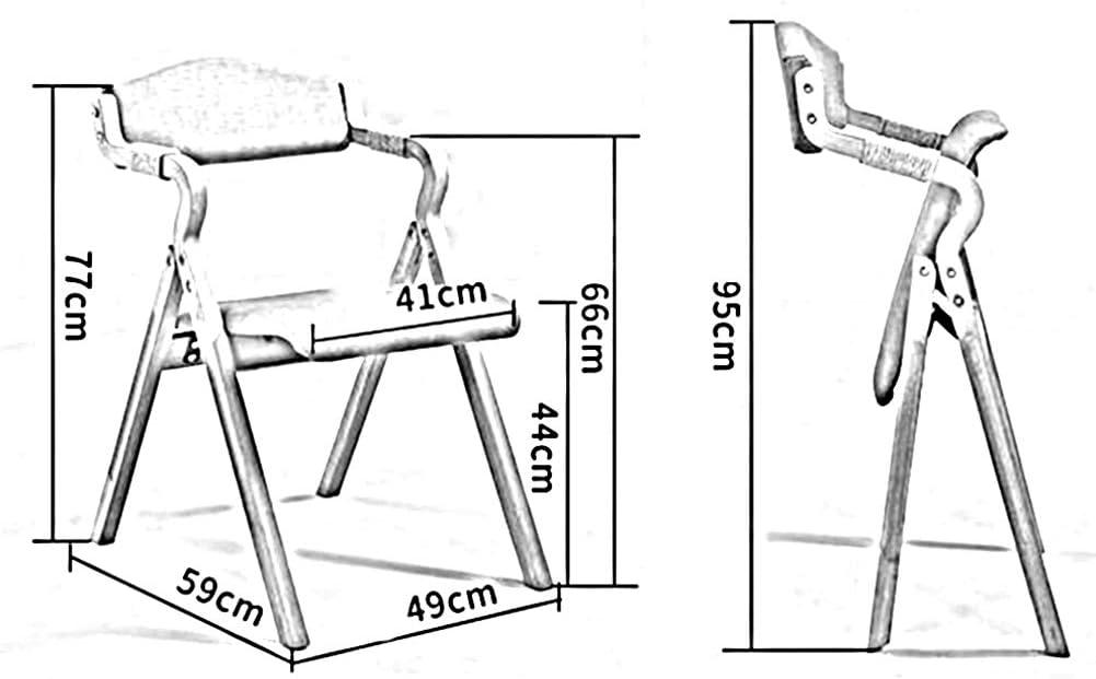 WYYY chaise de Bureau Tissu Chaise Pliante Chaise De Salle À Manger Rétro Chaise D'ordinateur Bois Massif Durable Fort (Couleur : T5) T6