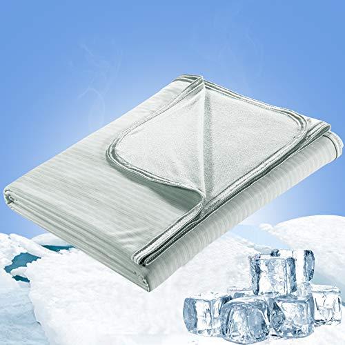 Luxear Kühlende Kuscheldecke 200x220cm, dünne leichte Kühldecke Sommerdecke aus Japanische Arc-Chill Q-Max 0,34 Kühlfaser+100{baac9c7d8ae4c58e6e5aa0960e67717b83f3e33003566dd49faee0a26b8c7a6d} Bambusfasern, Wohndecke Sofadecke Reisedecke Couchdecke