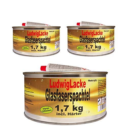 3 x 1,7 kg Set Glasfaserspachtel Faserspachtel Spachtelmasse Autolack