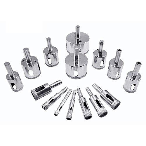 Broca de diamante, 10 piezas de puntas – cristal, azulejo, mármol y cerámica hueca núcleo extractor Set de herramientas