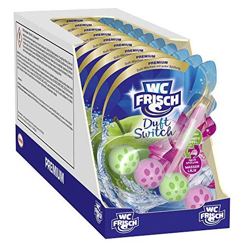 WC Frisch Duft Switch Grüner Apfel und Wasserlilie, WC-Reiniger & Duftspüler, Duftwechsel, 10er Pack(10 x 50 g)