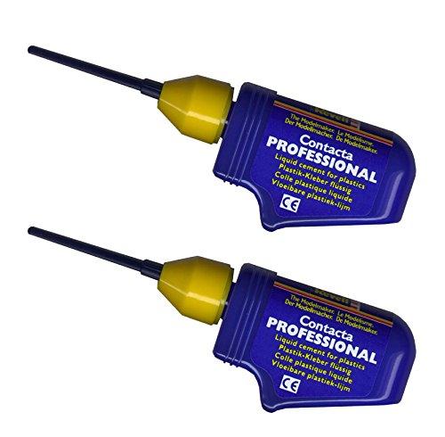 Revell 39604. Pack 2 botes de pegamento para maquetas con canula de aguja metálica de precisión
