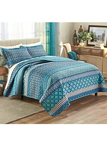 Carol Wright Gifts Jewel Tone Quilt Set - King, Color Teal, Size King, Teal, Size King