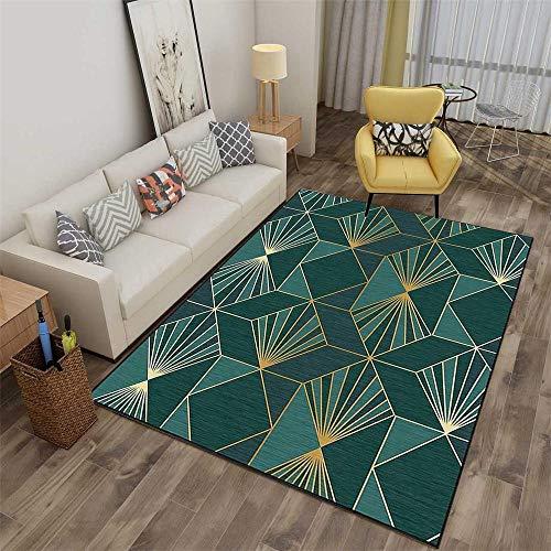 HXJHWB Alfombra Lavables Moquetas - Sala de Estar Exquisito Geométrico Resumen 3D Imprimir Alfombra Gravedad Multi-Color Fácil cuidado-160cmx230cm