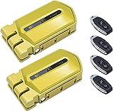 Duo Cerraduras Invisibles Golden Shield Alarm 95db con 4 mandos incopiables