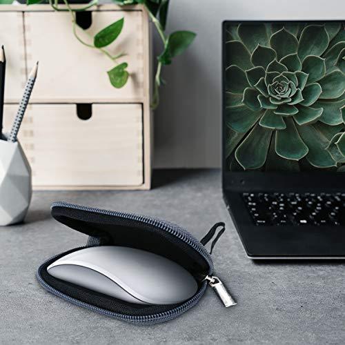 kwmobile Hülle kompatibel mit Apple Magic Mouse 1/2 - Neopren Hülle für PC Mouse Schutzhülle in Grau