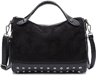 TEBIEAI Damen Umhängetaschen Frau Handtaschen Lack PU-Leder Elegant Tote Schultertaschen TEDE84066