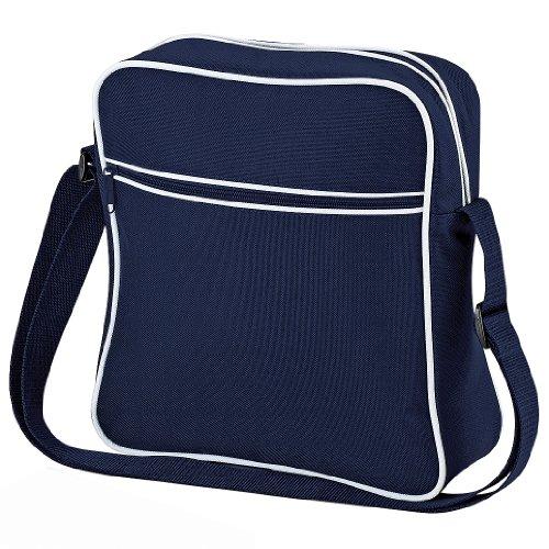 Bag Base Sac de vol rétro unisexe BG016FNWH bleu marine/blanc, taille M