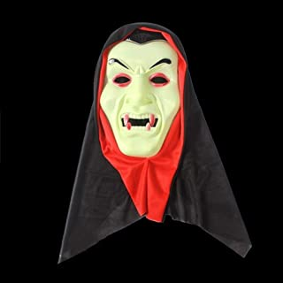 LFOZ Halloween Ghost Festival Horror Mask Surprise Ghost Face Mask Cosplay Mask Plastic Scary Full Head (Color : Q)