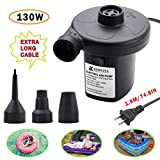 KERUITA Electric Air Pump Inflatables Portable Inflator/Deflator Pumps for Inflatable Couch, Air Mattress, Swimming Ring, Inflatable Pool Toys, Powerful Electric Inflator/Deflator Air Pump