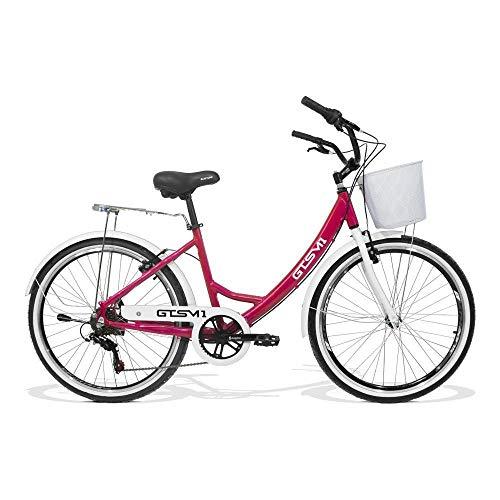 Bicicleta Feminina GTS Retrô Aro 26 Câmbio Shimano 7 Marchas Freio V-Brake | GTS M1 KS Retrô
