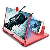 Newseego Loupe d'écran pour téléphone portable HD 30,5 cm avec support pliable pour tous les smartphones Rouge