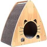 RXL Nido de perro robusto de madera maciza cerrado triángulo nido cálido en las estaciones de invierno universal cómodo