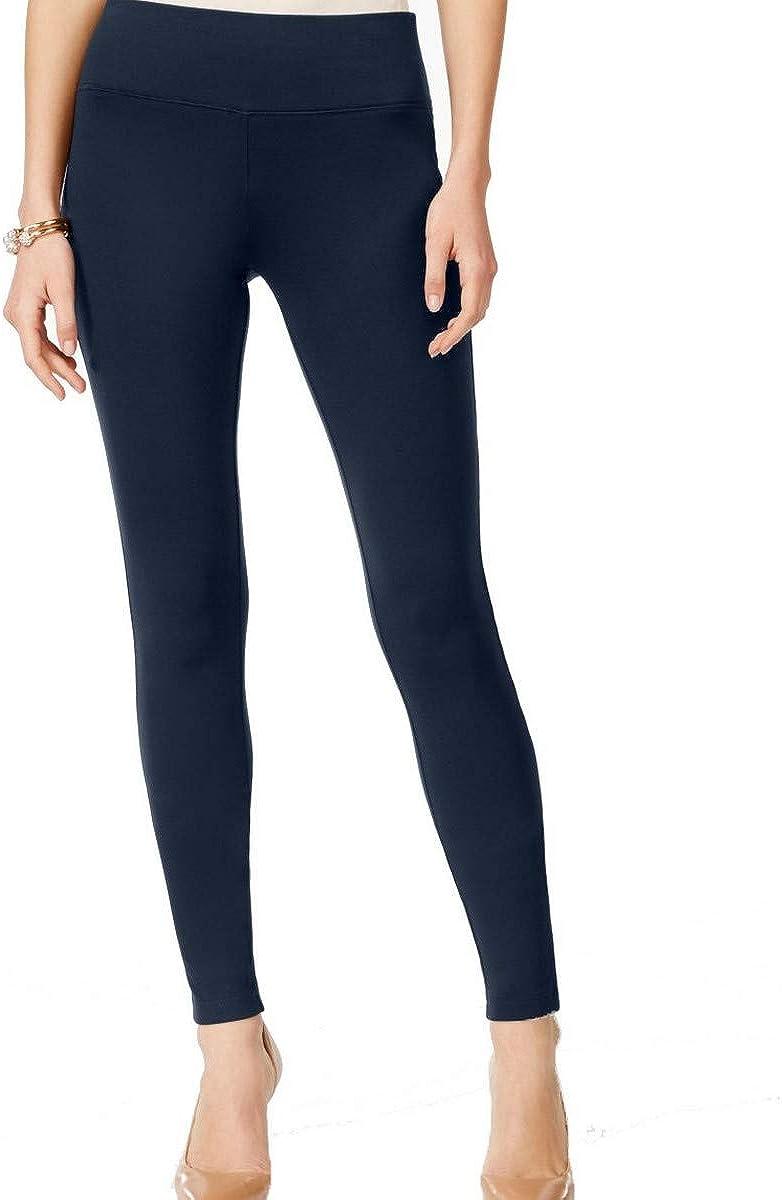 INC Women's Regular Fit Pull On Ponte Skinny Pants